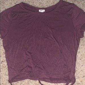 Garage maroon wrap around t shirt medium-cropped